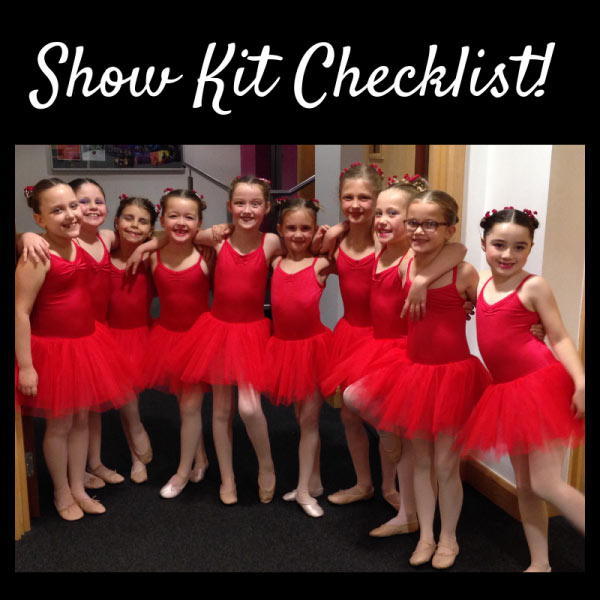 JC Dance - Show Kit Checklist